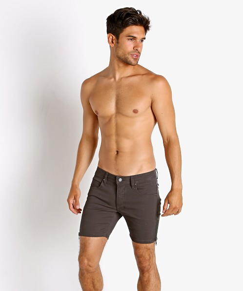 Nasty Pig Zipper Shorts Grey