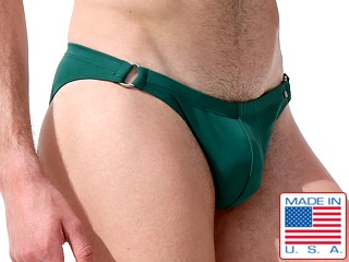 Model in forest Rufskin Carver Bikini Swim Briefs
