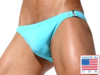 Model in sky Rufskin Carver Bikini Swim Briefs