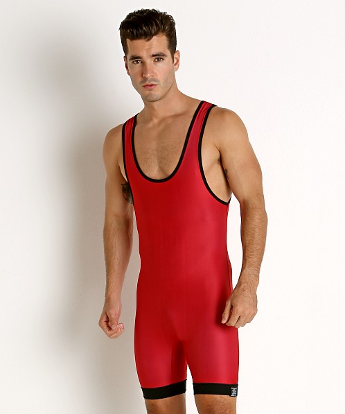 Matman Hi-Cut Reversible Wrestling Singlet Red/Royal
