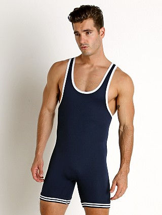 You may also like: Matman Classic Old School Nylon Wrestling Singlet Navy/White