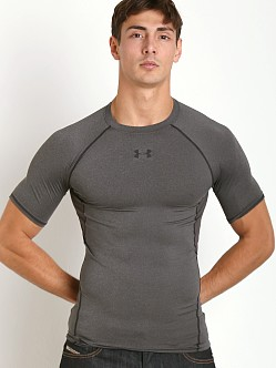 Under Armour Heatgear Shortsleeve Compression Tee Carbon Heather