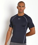 Under Armour Heatgear Shortsleeve Compression Tee Midnight Navy, view 3
