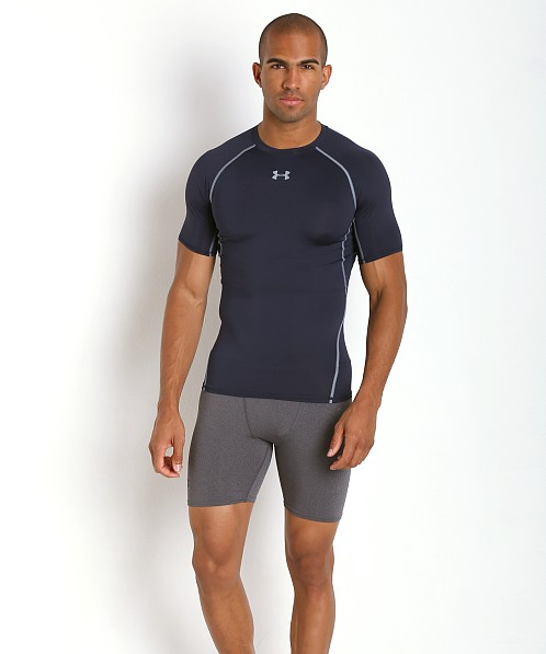 Under Armour Heatgear Shortsleeve Compression Tee Midnight Navy