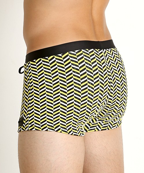 Sauvage Italian Textured Square Cut Trunk Yellow Deco Print