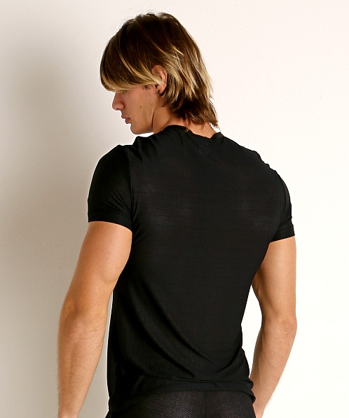Gregg Homme Physical Modal V-Neck Tee Black
