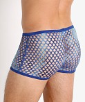 Rick Majors Tie Dye Glitter Mesh Low Rise Trunk Navy/Blue, view 4
