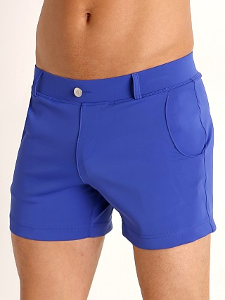 Model in blue Timoteo Santa Monica Swim Short