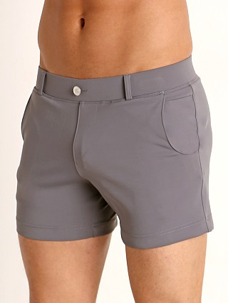 Model in grey Timoteo Santa Monica Swim Short