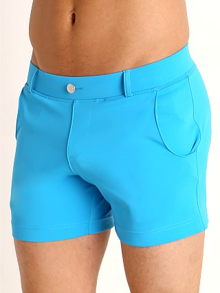 Model in turquoise Timoteo Santa Monica Swim Short