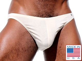 Model in natural Rufskin Blaze Stretch Rayon Low Rise Briefs