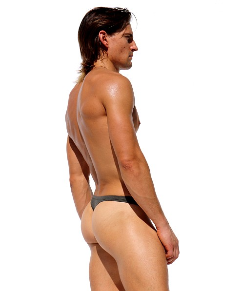 Rufskin Stream Stretch Rayon Thong Dark Army
