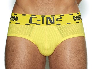 Model in caution yellow C-IN2 Caution Low Rise Brief