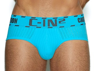 Model in james blue C-IN2 Caution Low Rise Brief