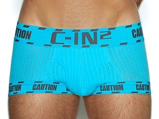 Model in james blue C-IN2 Caution Fly Front Trunk