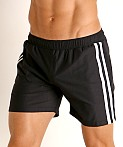 LASC Performance Mesh Active Shorts Black/White, view 3