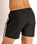 LASC Performance Mesh Active Shorts Black/White, view 4
