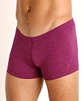 LASC Workout Micro Shorts Magenta Heather, view 3