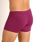 LASC Workout Micro Shorts Magenta Heather, view 4