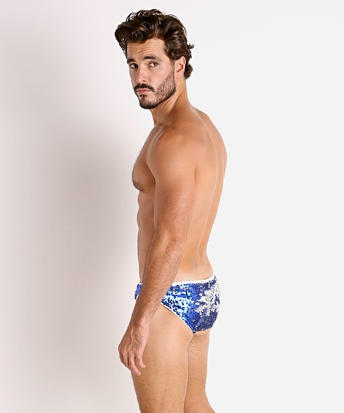 LASC Transformer Sequined Sparkle Briefs Royal/Silver
