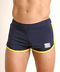 Jack Adams Track & Field Short Blue/Yellow, view 3