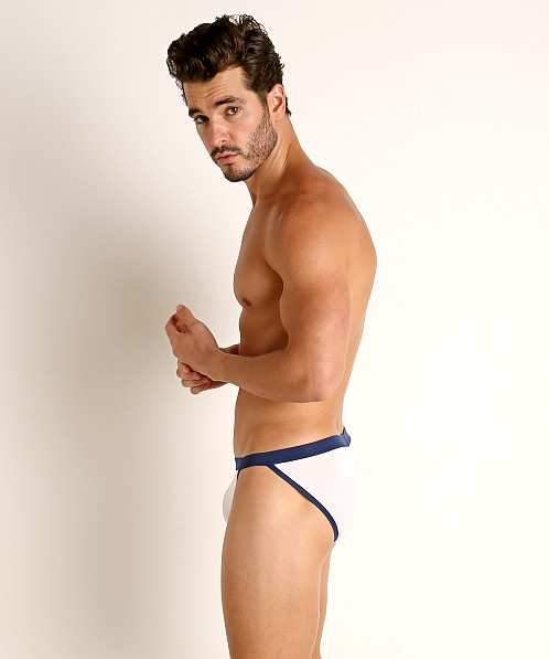 Jack Adams Higgs Sport Swim Brief White/Navy