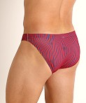 Jack Adams Bikini Swim Brief Hour Glass Red/Navy, view 4