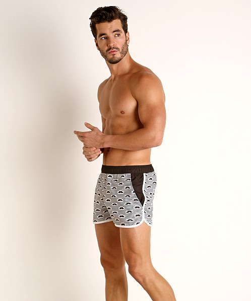 Jack Adams Salty and Stache Swim Short Black/White
