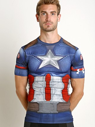Under Armour Captain America Suit Compression Shirt Navy