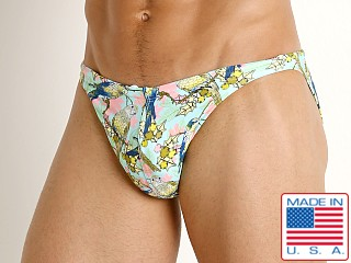 Model in lorekeets LASC Super Low Rise Swim Brief
