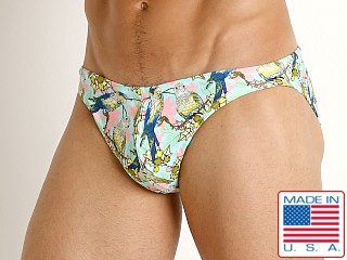 Model in lorekeets LASC St. Tropez Low Rise Swim Brief
