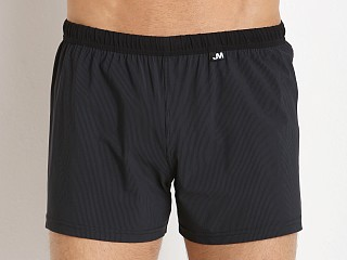 JM Waves Classic Nylon/Spandex Loose Swim Trunk Black