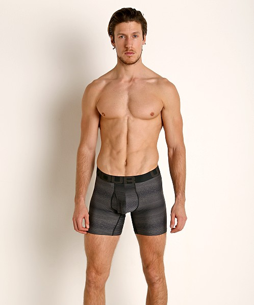 "Under Armour Tech Mesh Front 6"" Boxerjock Black/Pitch Gray"