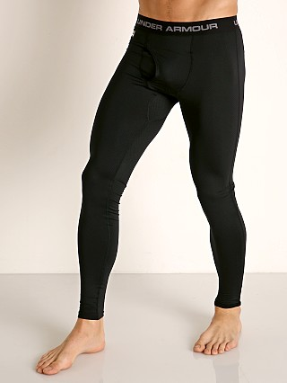 Model in black Under Armour Tactical Base Layer Leggings