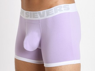 Model in lilac John Sievers Cotton Natural Pouch Boxer Brief