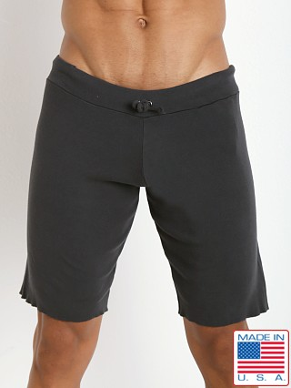 Model in charcoal Go Softwear 100% Cotton Cut-Off Short