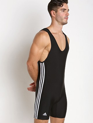 Adidas 3 Stripe Wrestling Singlet Black/White