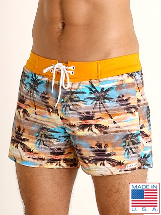 Sauvage Sunset Palms Swim Shorts Print