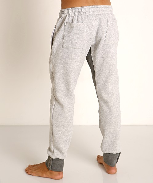 LASC Fleece Crotch Gusset Drawstring Pant Grey/Charcoal