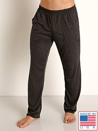 Model in charcoal LASC Slub Jersey Workout Pant