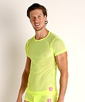 Vaux VX1 Mesh T-Shirt Yellow, view 3
