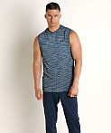 Under Armour Vanish Seamless Sleeveless Hoodie Ether Blue/Black, view 2