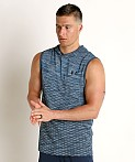 Under Armour Vanish Seamless Sleeveless Hoodie Ether Blue/Black, view 3