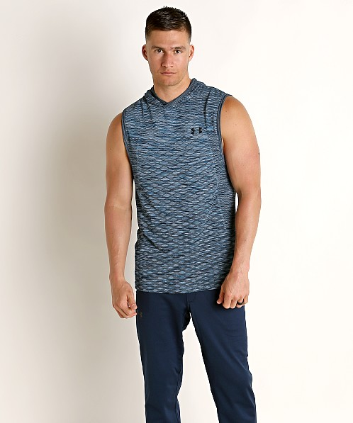 Under Armour Vanish Seamless Sleeveless Hoodie Ether Blue/Black