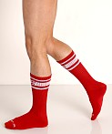 Nasty Pig Hook'd Up Sport Socks Red, view 3