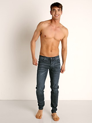 Model in trade blue Nasty Pig Jeans