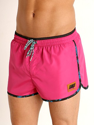Model in coral Diesel Reef Swim Shorts
