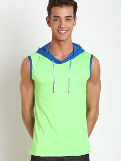 Pump! Shockwave Hooded Mesh Tank Neon Green/Blue
