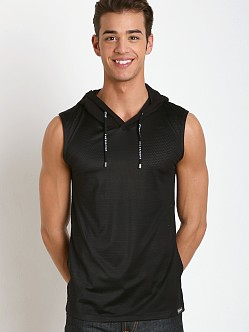 Pump! Beach Hooded Mesh Tank Black