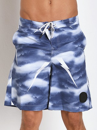 Model in imperial blue G-Star Divad Swim Shorts